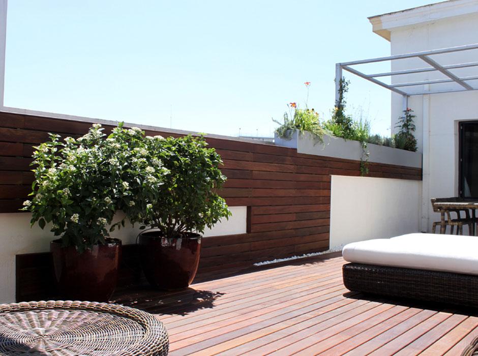 Terraza de diseño en la calle Alcalá - Estudio Argensolacuatro