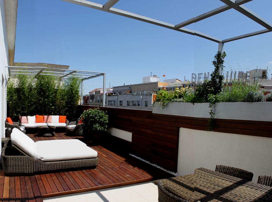 Terraza de dise o en la calle alcal estudio argensolacuatro - Diseno de terraza ...